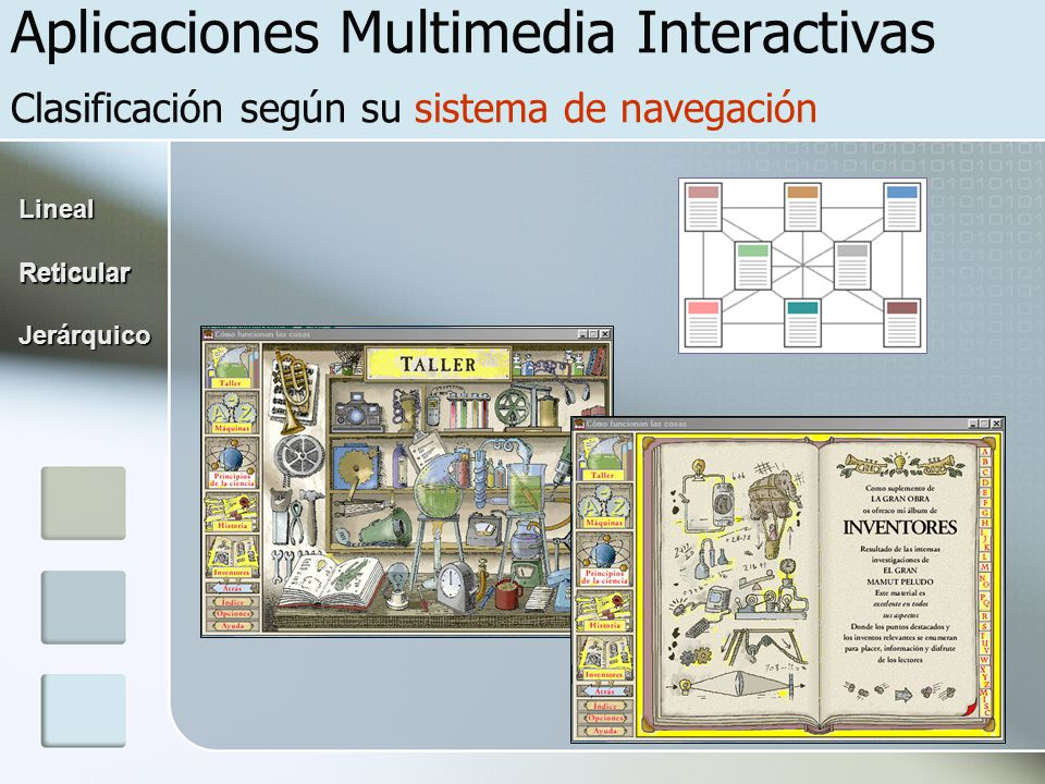 Aplicaciones Multimedia Interactivas Clasificación según su sistema de navegación