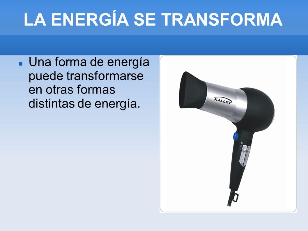 LA ENERGÍA SE TRANSFORMA