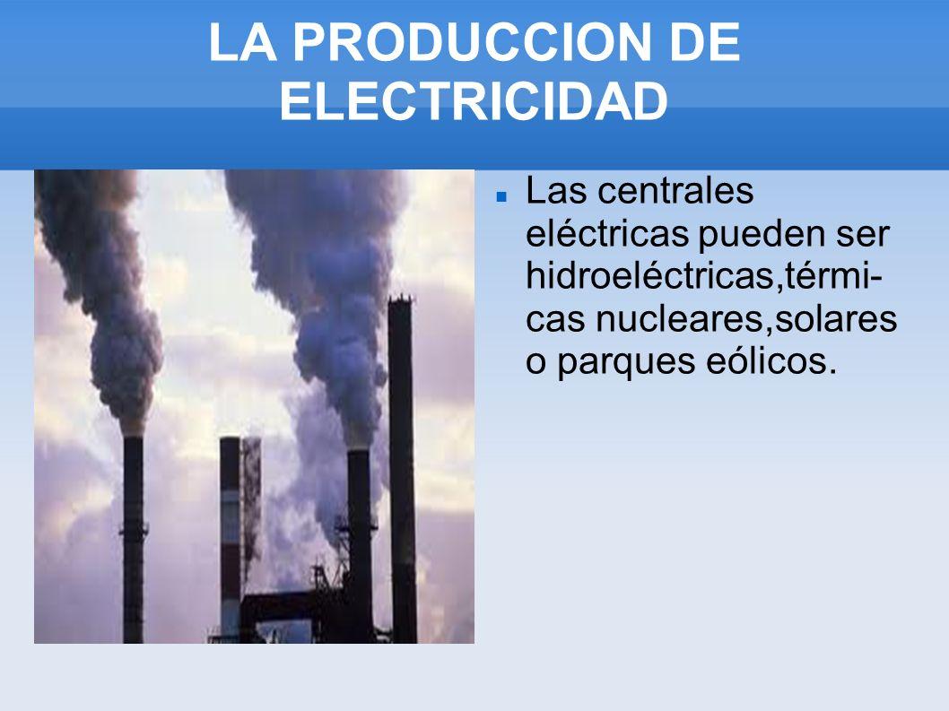 LA PRODUCCION DE ELECTRICIDAD