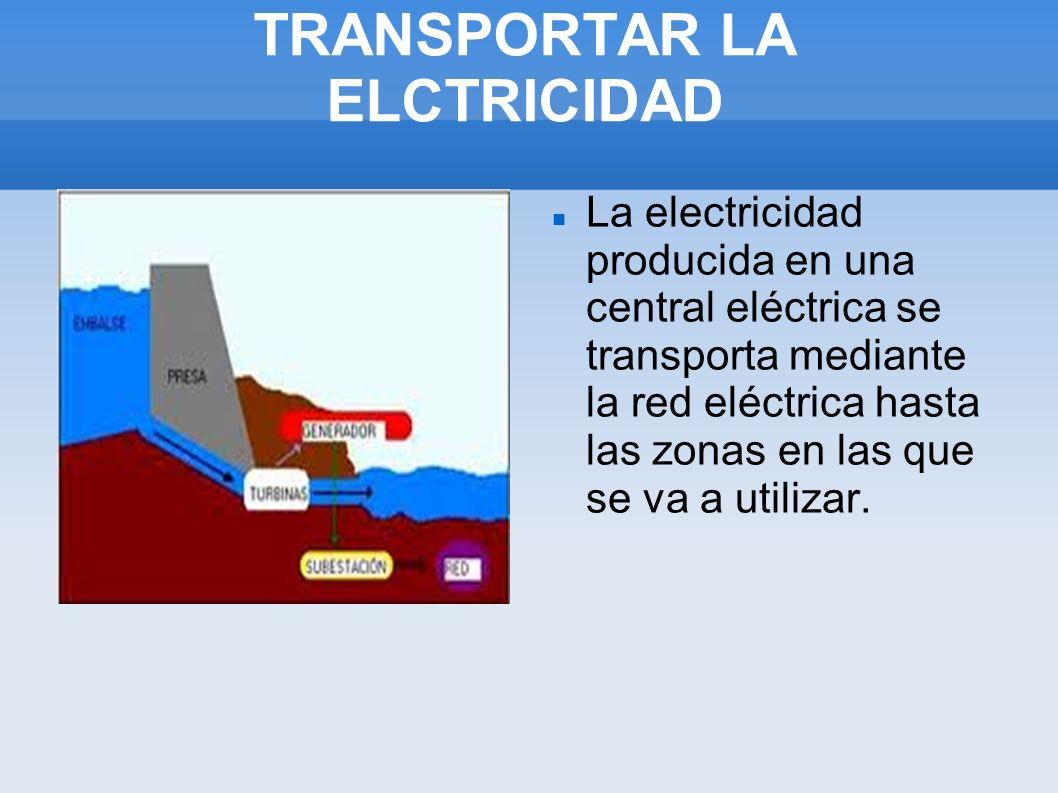 TRANSPORTAR LA ELCTRICIDAD