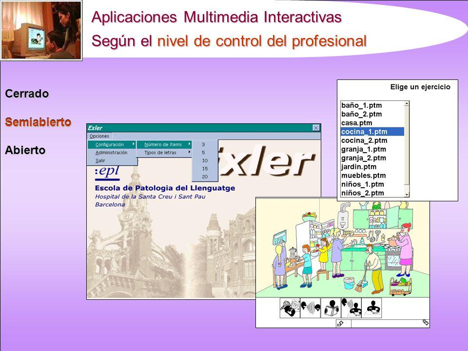 Aplicaciones Multimedia Interactivas Según el nivel de control del profesional