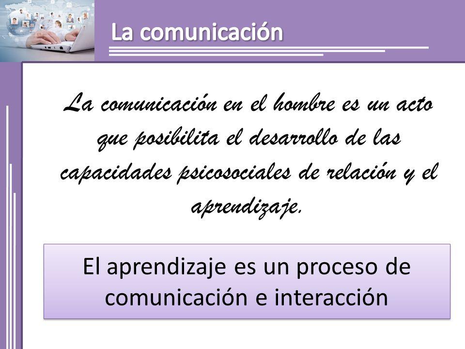 El aprendizaje es un proceso de comunicación e interacción