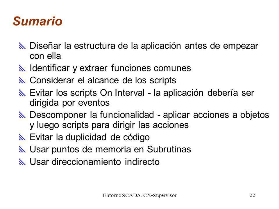 Entorno SCADA. CX-Supervisor