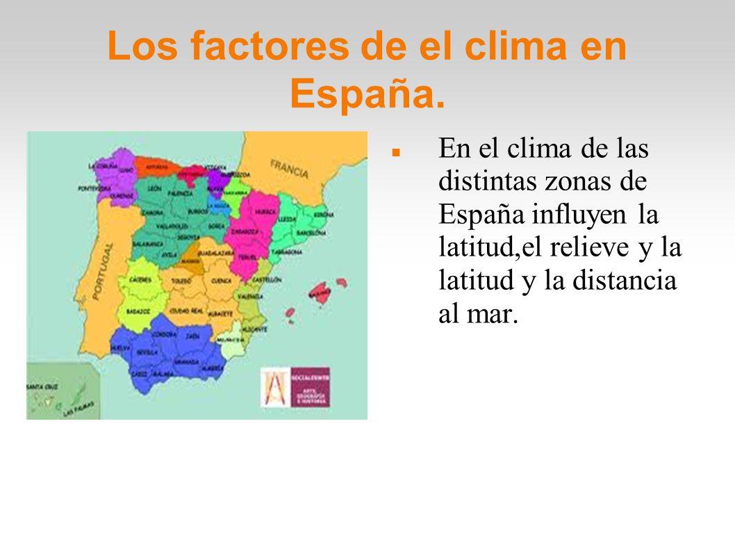 Los factores de el clima en España.