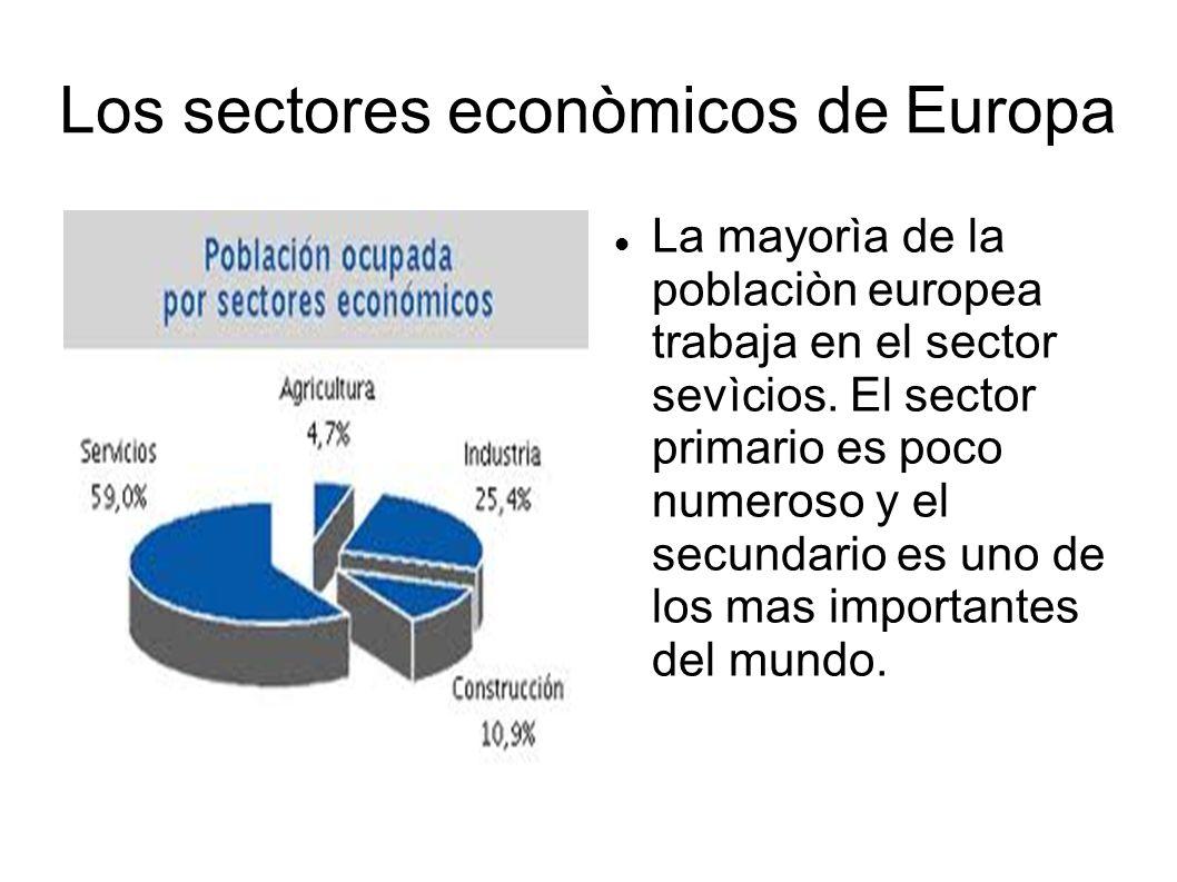 Los sectores econòmicos de Europa