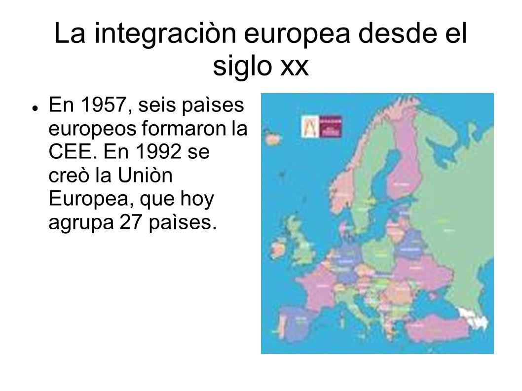 La integraciòn europea desde el siglo xx