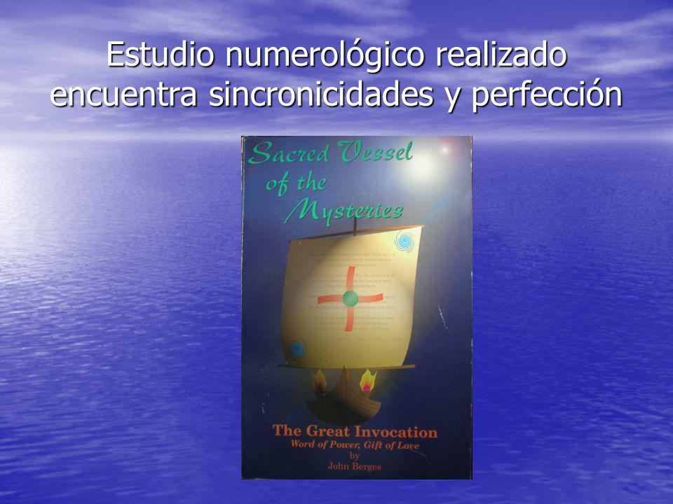 Estudio numerológico realizado encuentra sincronicidades y perfección