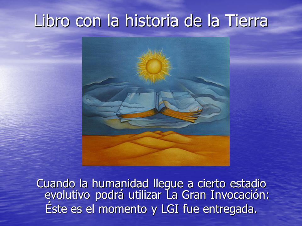 Libro con la historia de la Tierra