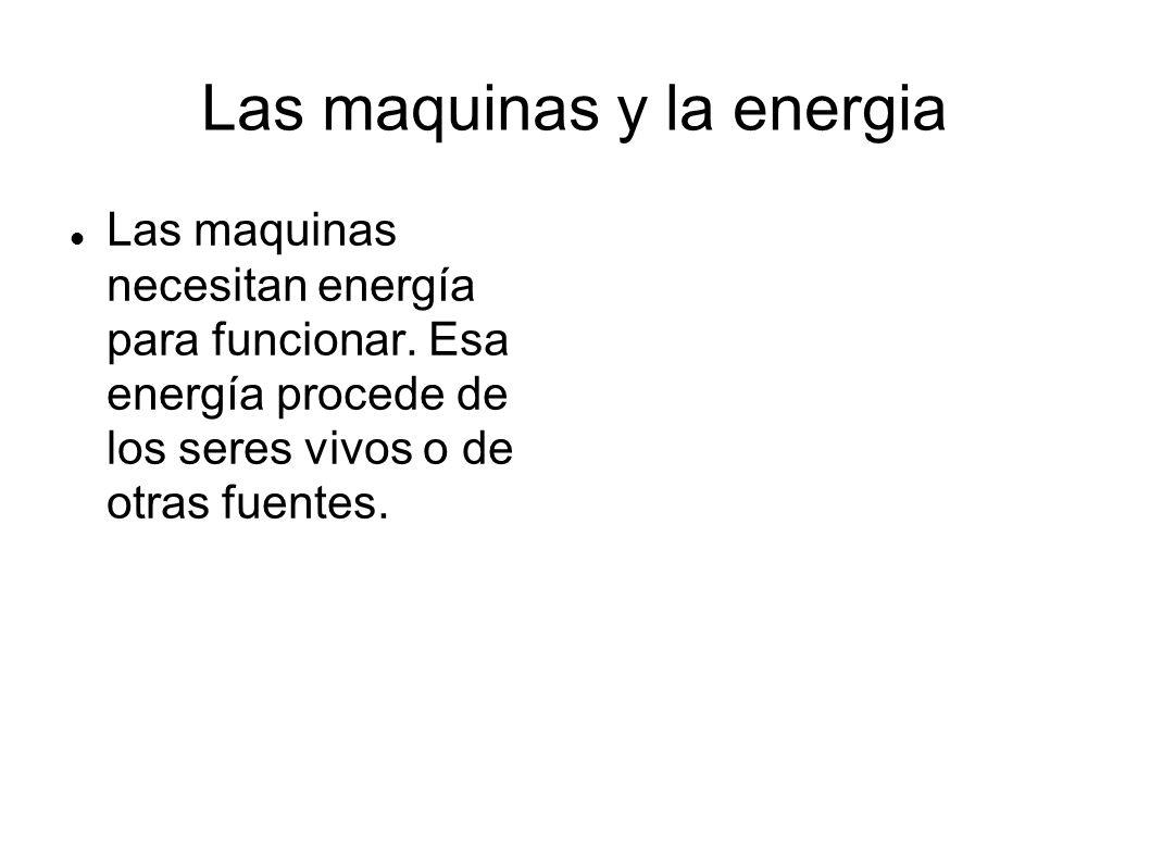 Las maquinas y la energia
