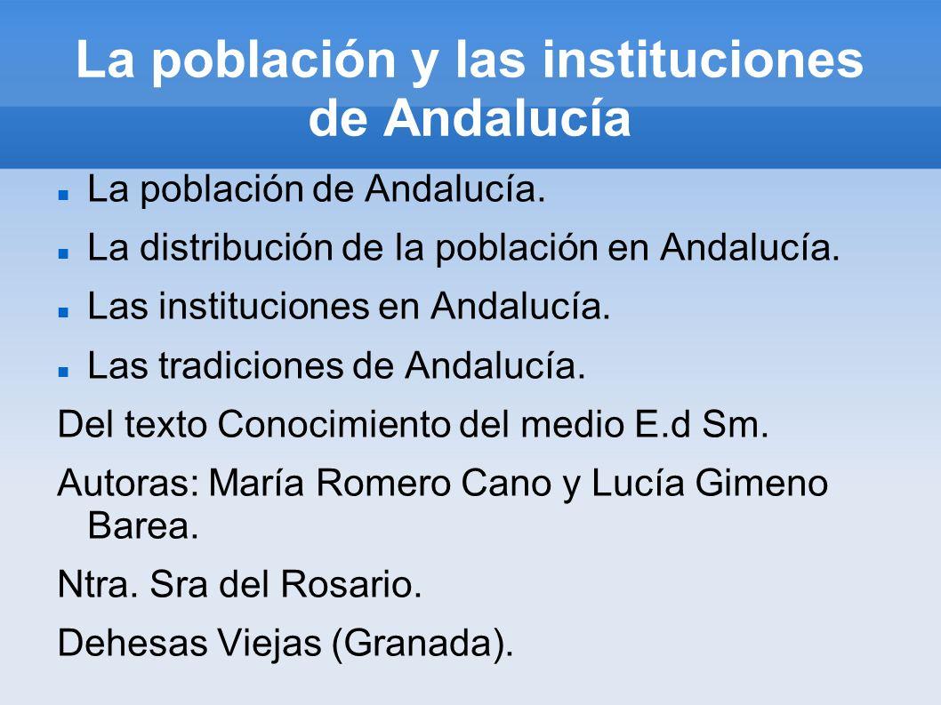 La población y las instituciones de Andalucía