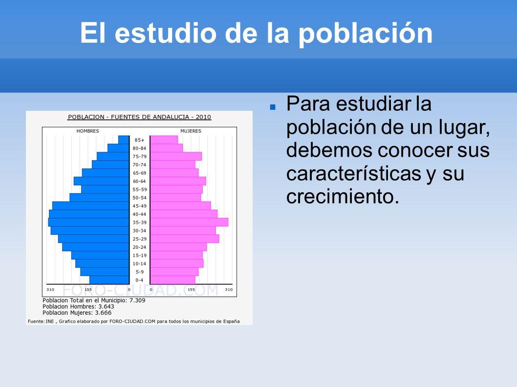 El estudio de la población