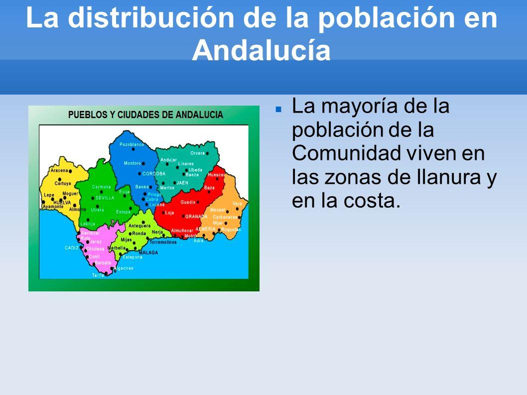 La distribución de la población en Andalucía