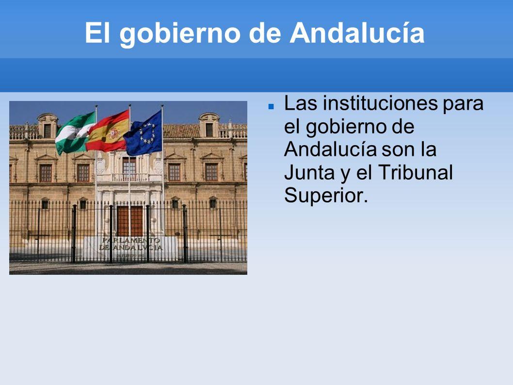 El gobierno de Andalucía