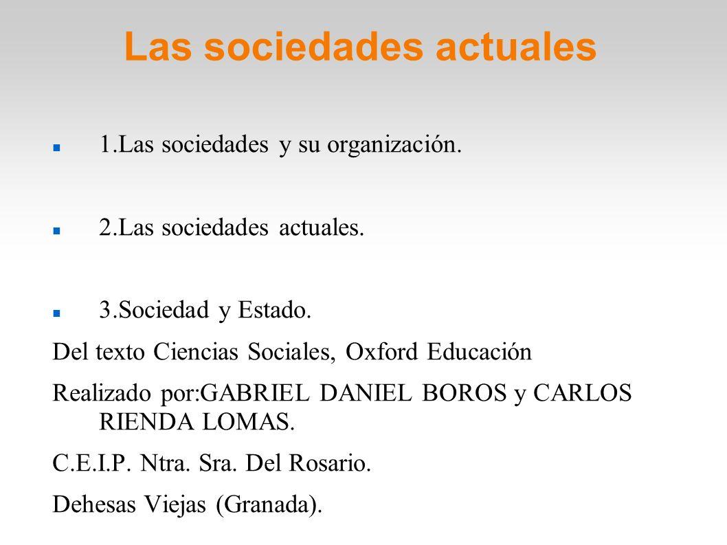 Las sociedades actuales