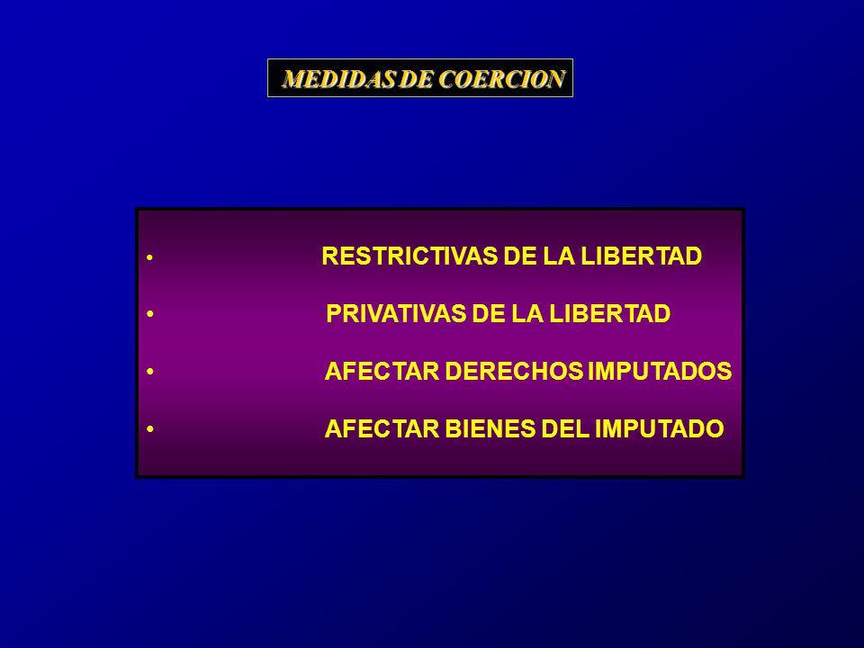 PRIVATIVAS DE LA LIBERTAD AFECTAR DERECHOS IMPUTADOS