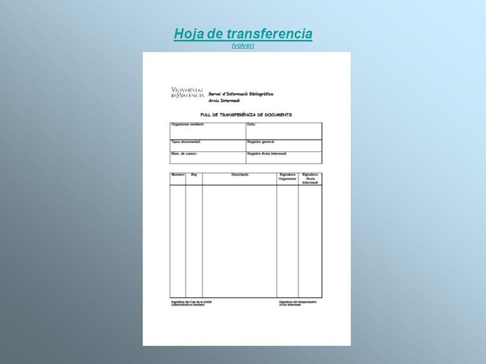 Hoja de transferencia (volver)