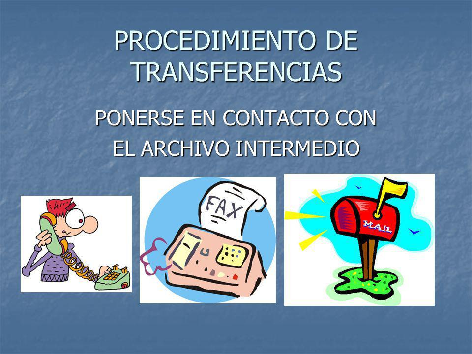 PROCEDIMIENTO DE TRANSFERENCIAS