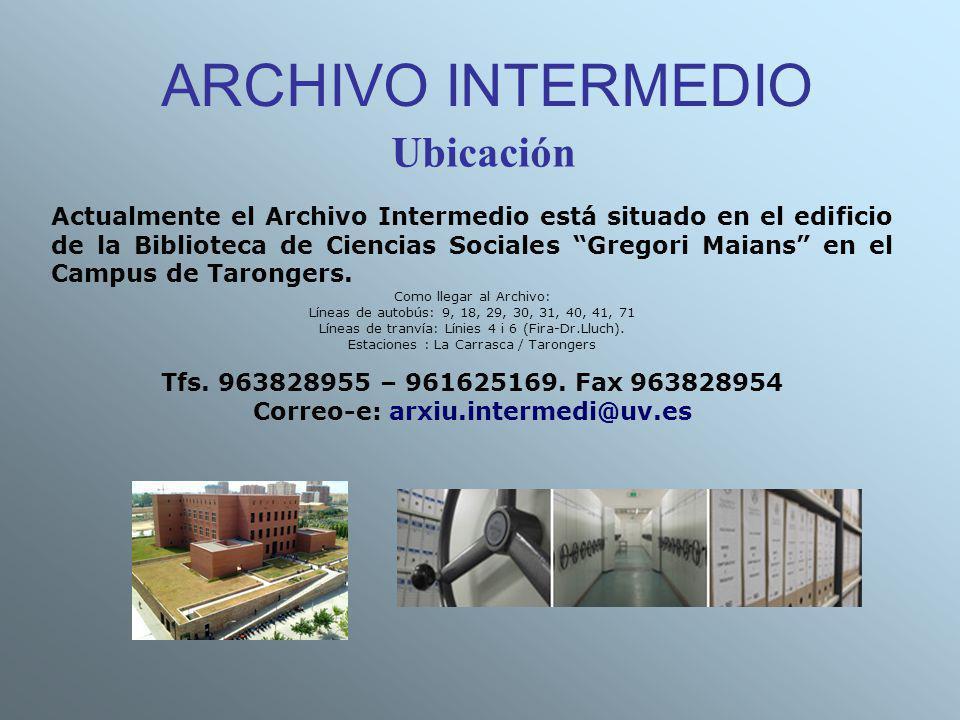 Correo-e: arxiu.intermedi@uv.es
