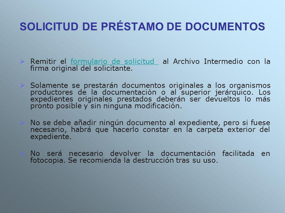 SOLICITUD DE PRÉSTAMO DE DOCUMENTOS