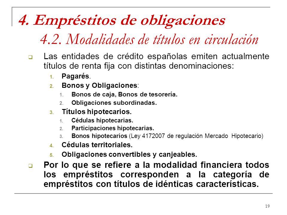 4. Empréstitos de obligaciones 4. 2