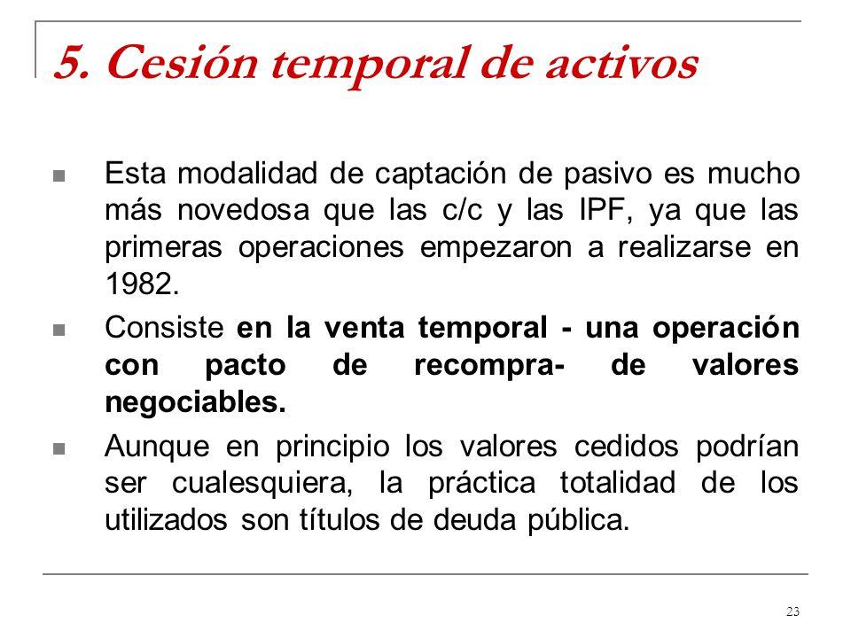 5. Cesión temporal de activos