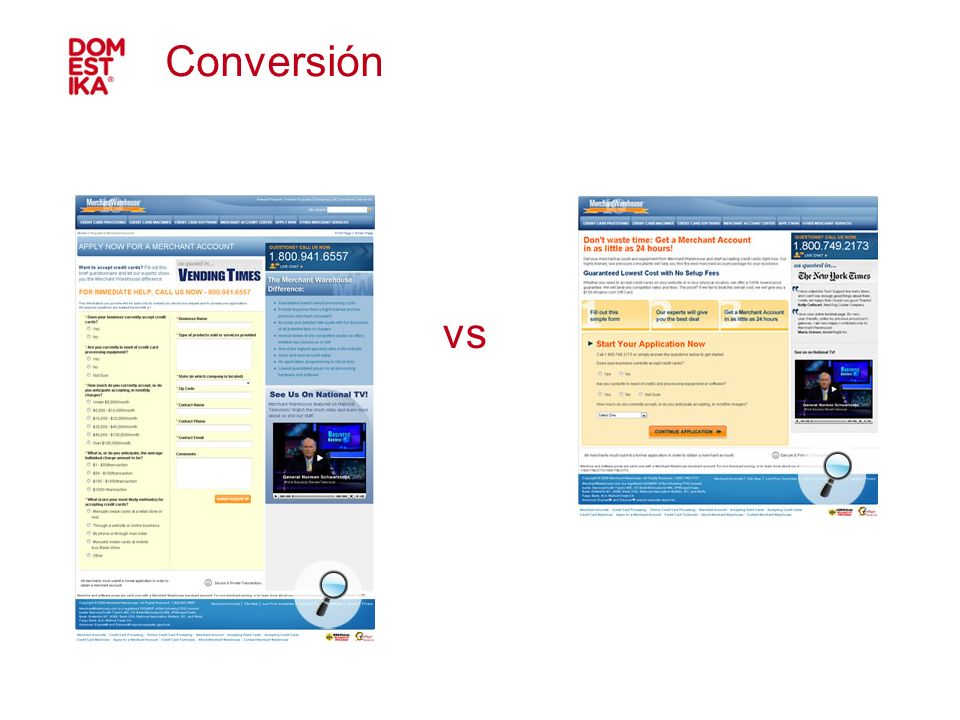 Conversión vs 41