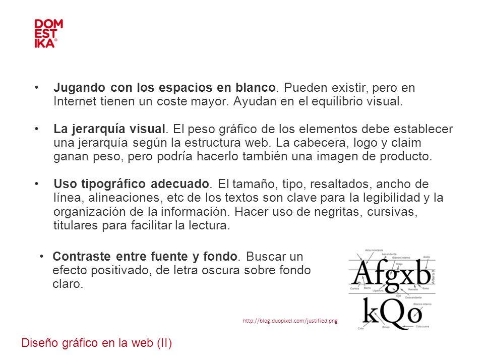 Diseño gráfico en la web (II)