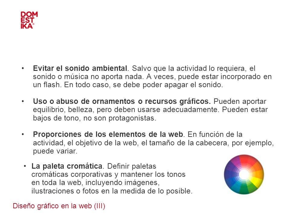 Diseño gráfico en la web (III)