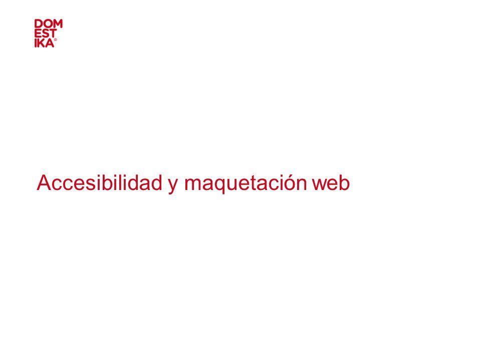 Accesibilidad y maquetación web