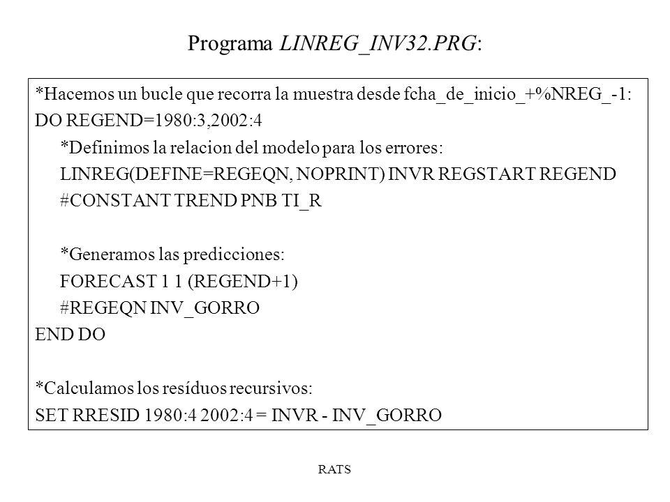 Programa LINREG_INV32.PRG: