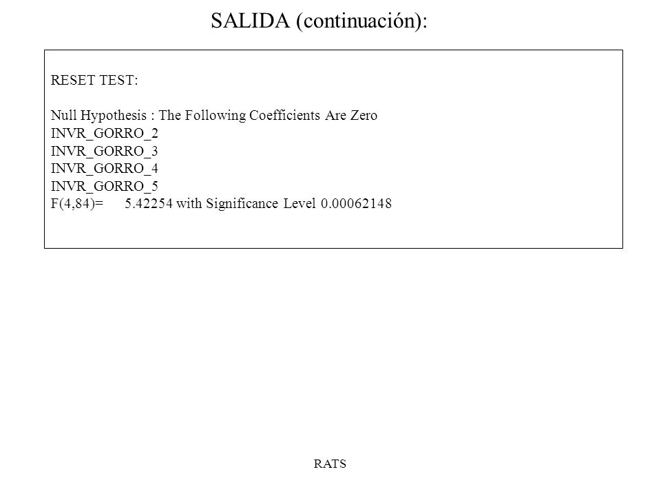 SALIDA (continuación):