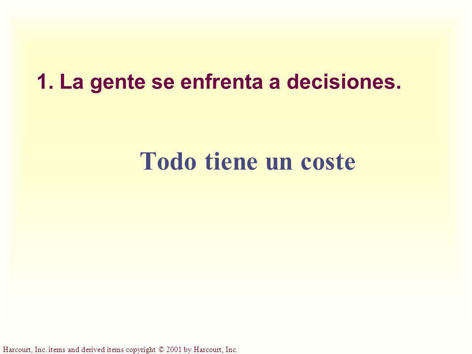 1. La gente se enfrenta a decisiones.