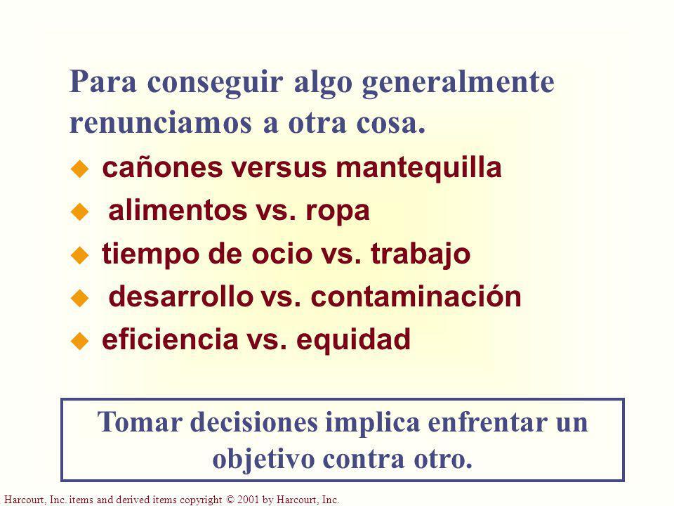 Tomar decisiones implica enfrentar un objetivo contra otro.