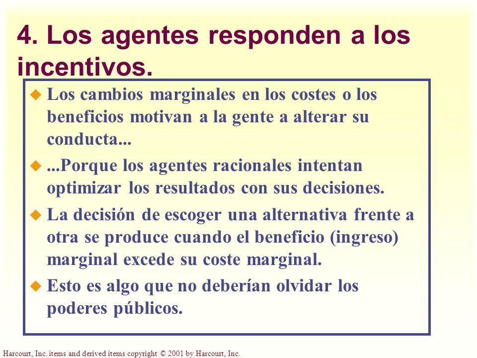 4. Los agentes responden a los incentivos.
