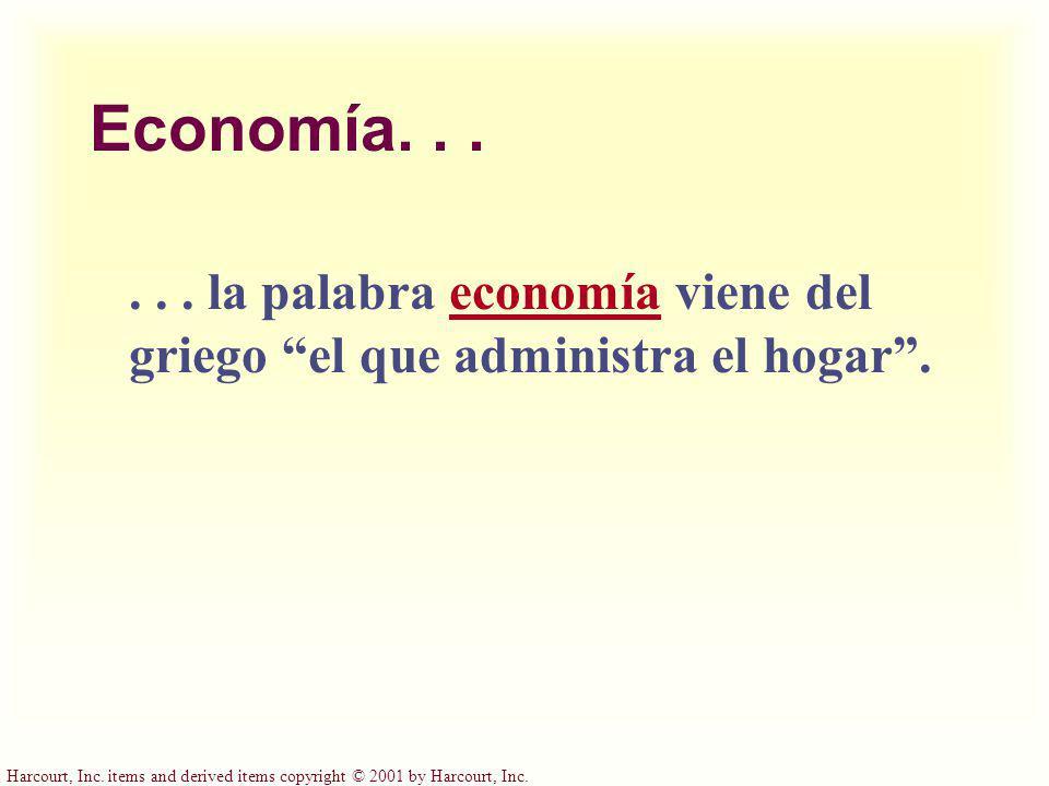 Economía. . . . . . la palabra economía viene del griego el que administra el hogar .