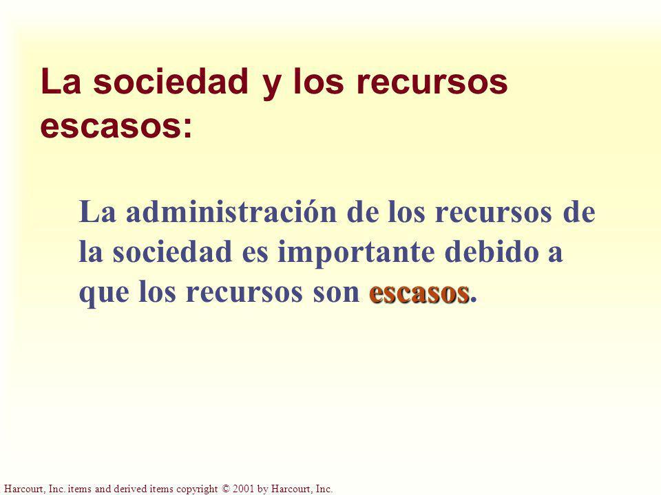 La sociedad y los recursos escasos:
