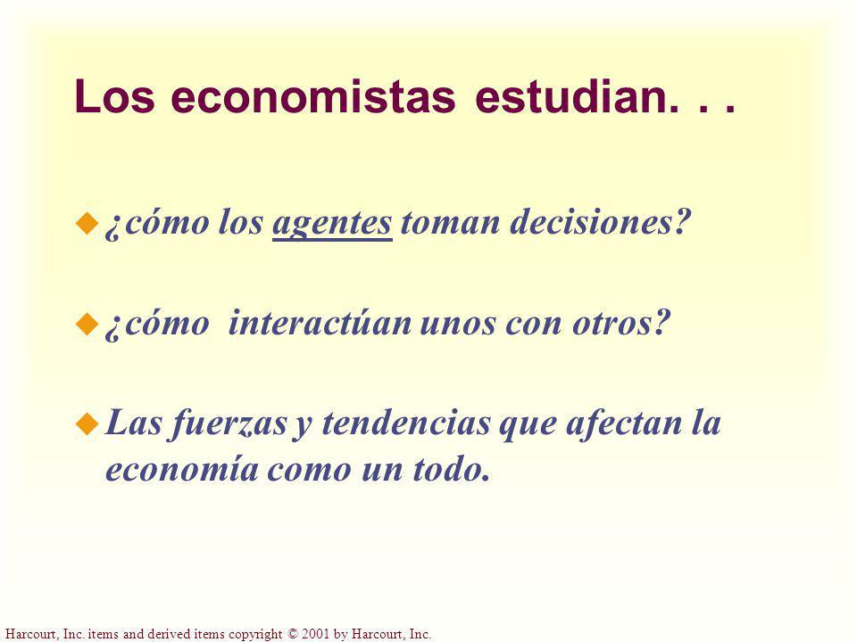 Los economistas estudian. . .