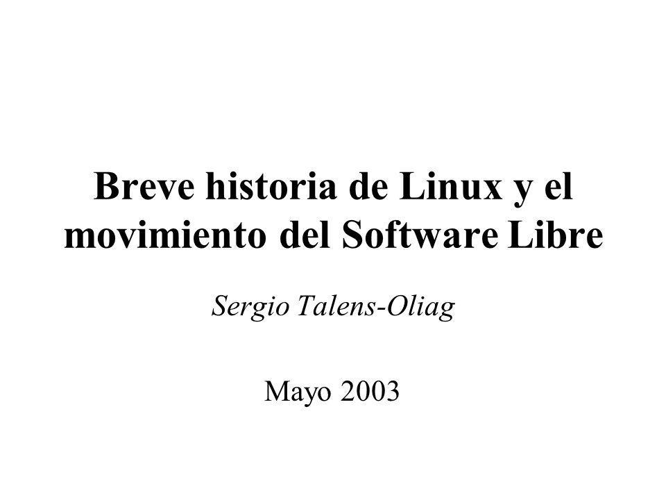 Breve historia de Linux y el movimiento del Software Libre