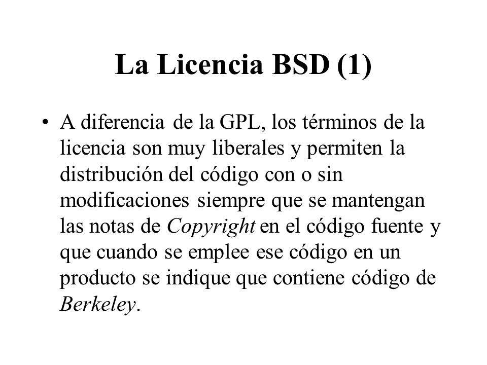 La Licencia BSD (1)