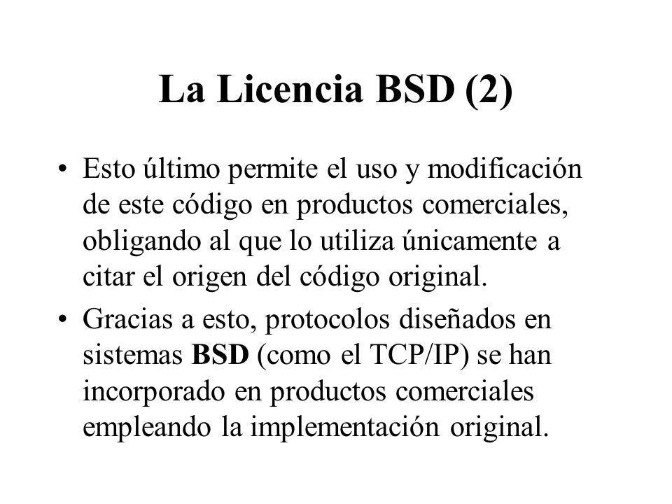 La Licencia BSD (2)
