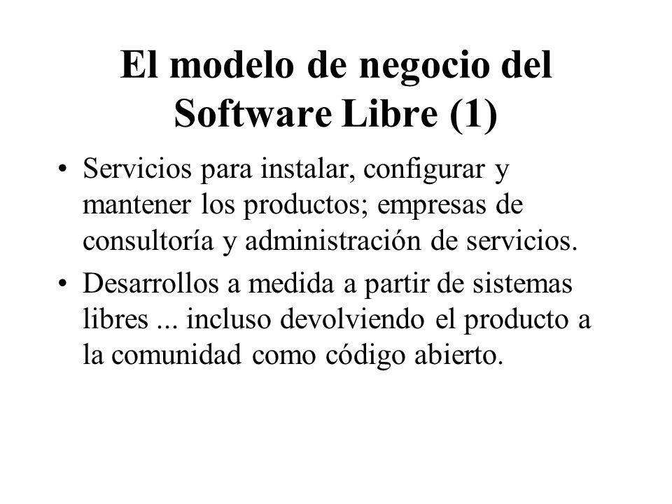 El modelo de negocio del Software Libre (1)