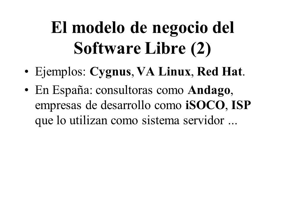 El modelo de negocio del Software Libre (2)