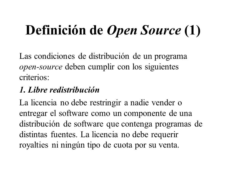 Definición de Open Source (1)