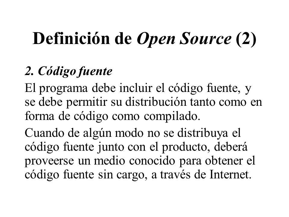 Definición de Open Source (2)