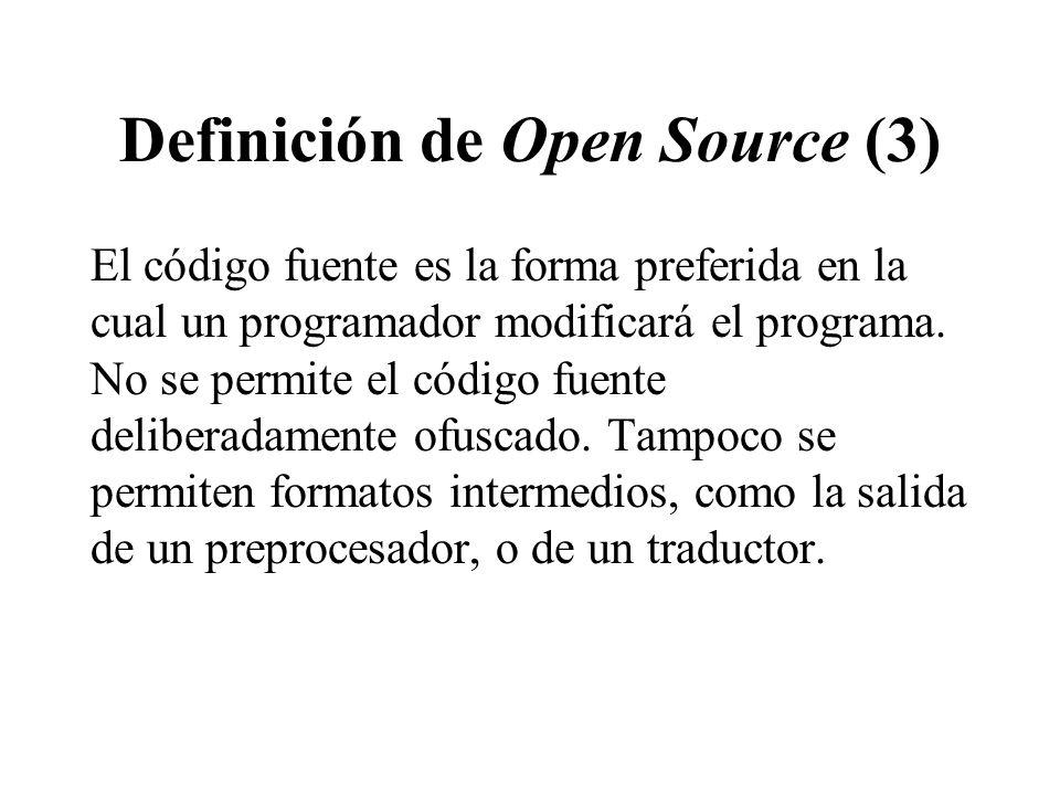 Definición de Open Source (3)