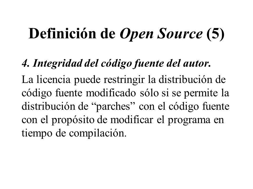 Definición de Open Source (5)