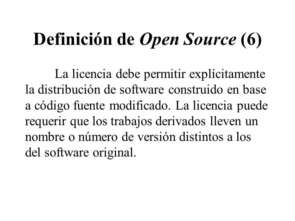 Definición de Open Source (6)