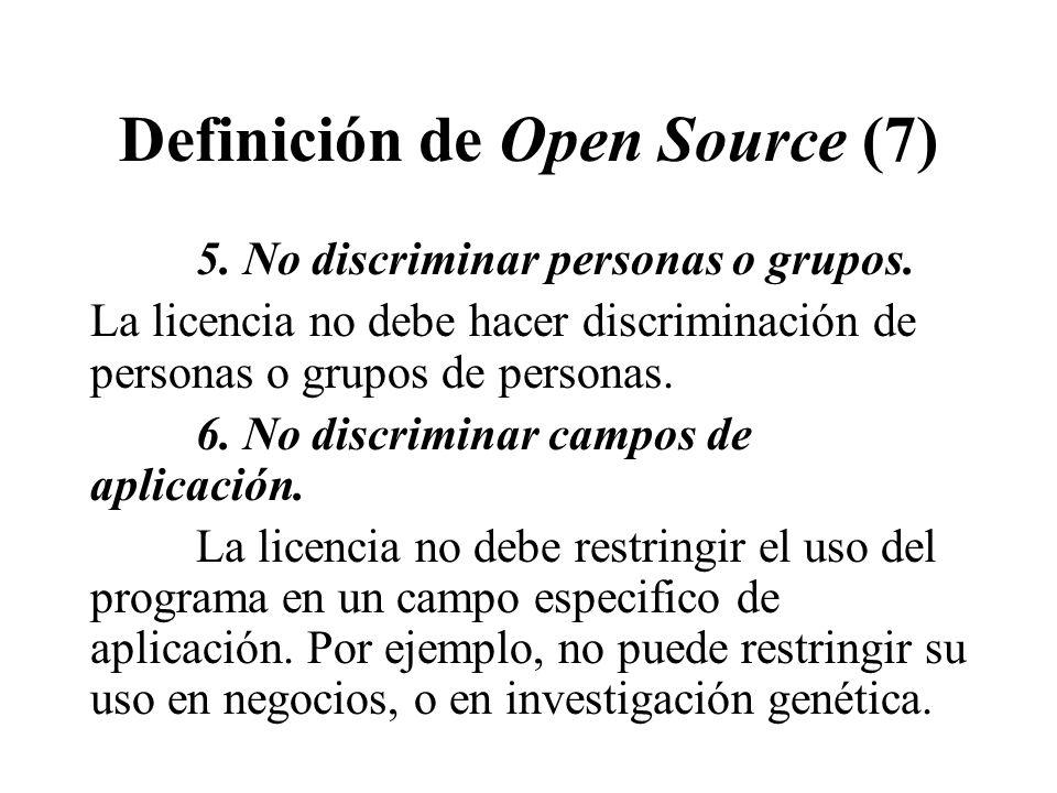 Definición de Open Source (7)