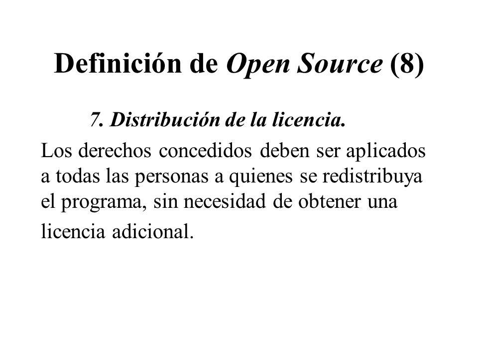 Definición de Open Source (8)