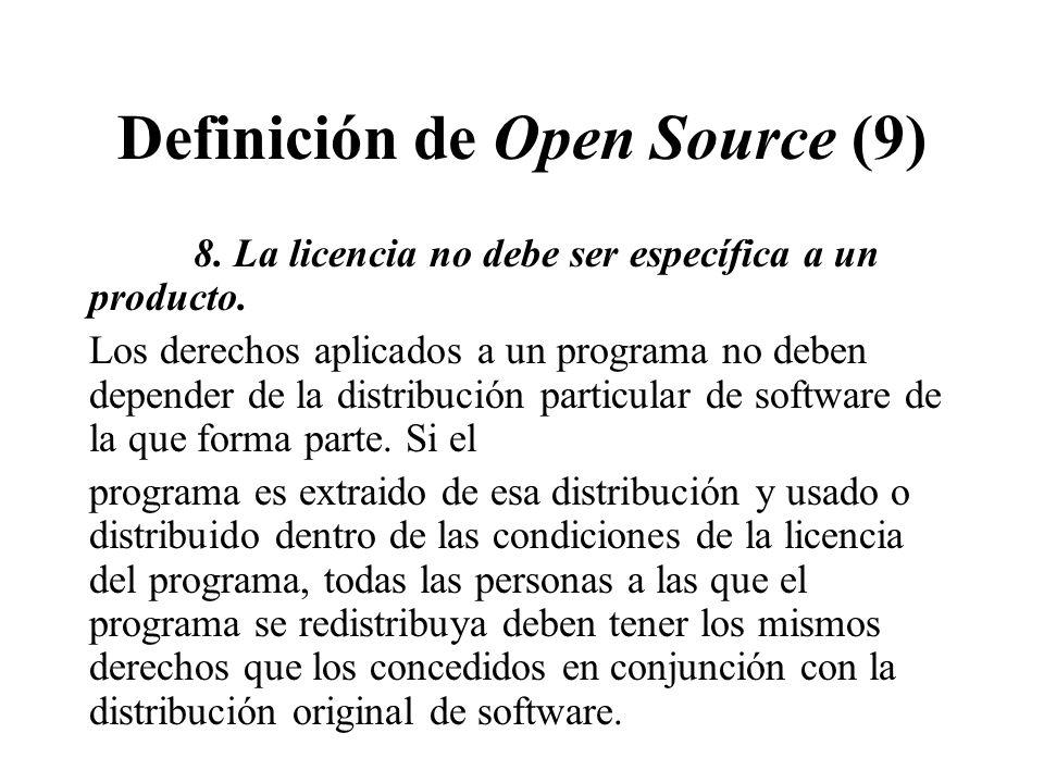 Definición de Open Source (9)